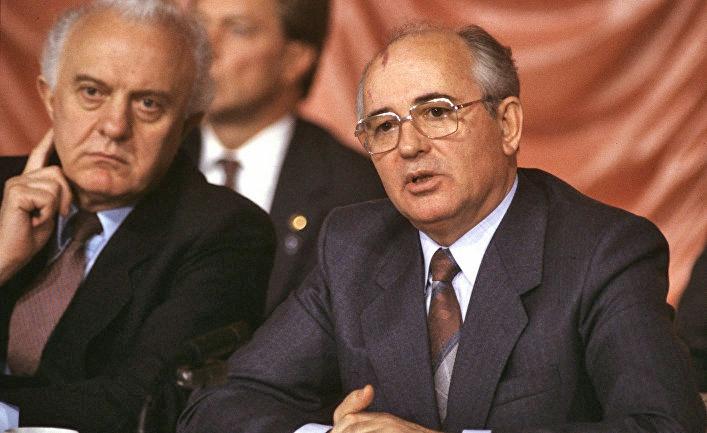 Михаил Горбачев и Эдуард Шеварднадзе.