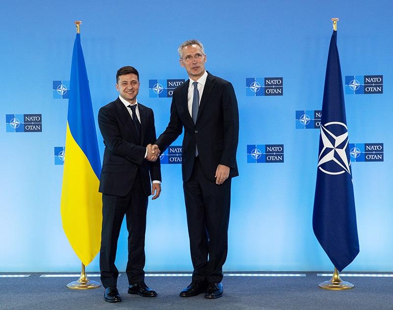 Встреча Зеленского с генсеком НАТО Йенсом Столтенбергом.