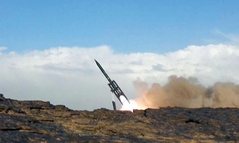 Обстрел хуситами саудовской территории при помощи иранских баллистических ракет.