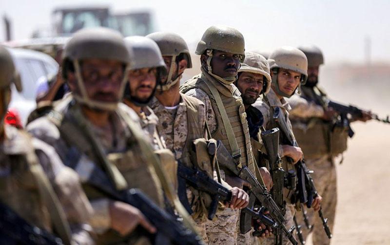 Саудовские солдаты в Йемене.