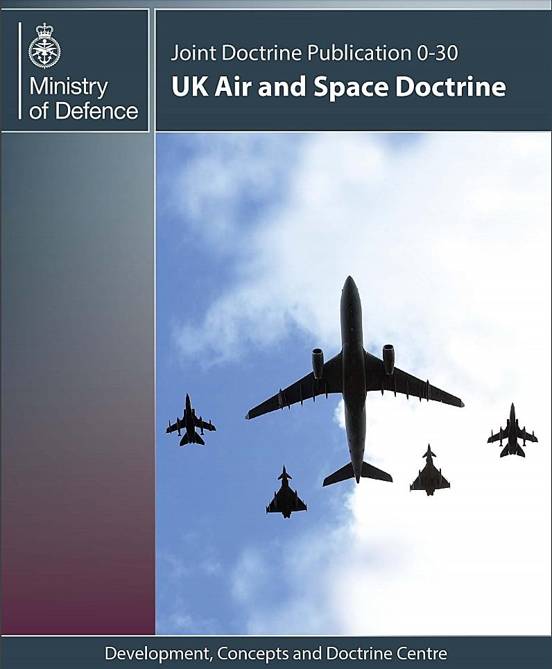 «Воздушно-космическая доктрина Великобритании» (UK Air and Space Doctrine, 2013).
