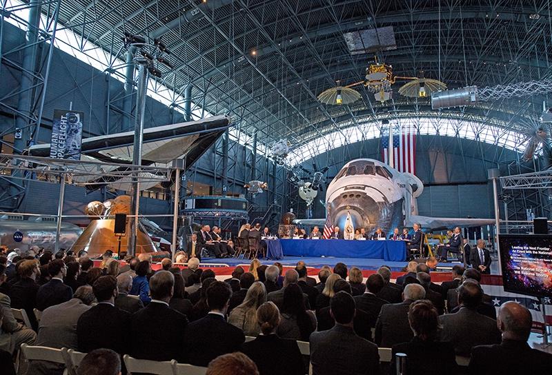 Первое заседание воссозданного Национального космического совета 5 октября 2017-ого года.