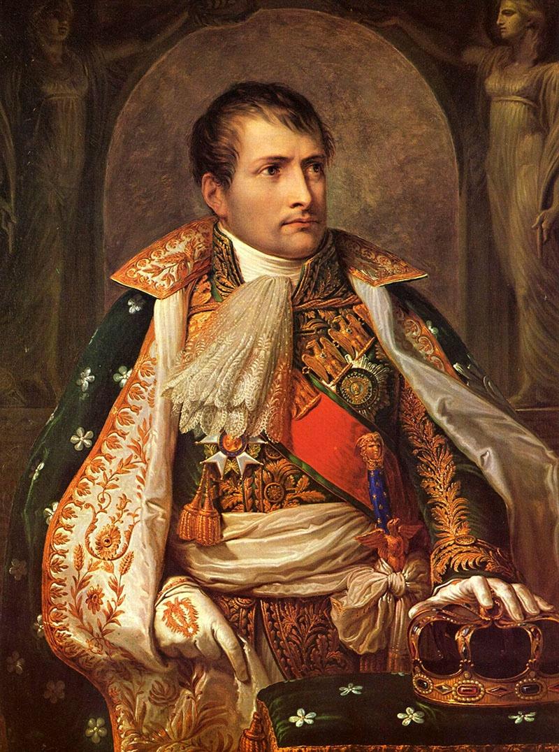 Портрет Наполеона, потравившего в трюмах тюремных кораблей негров двуокисью серы.