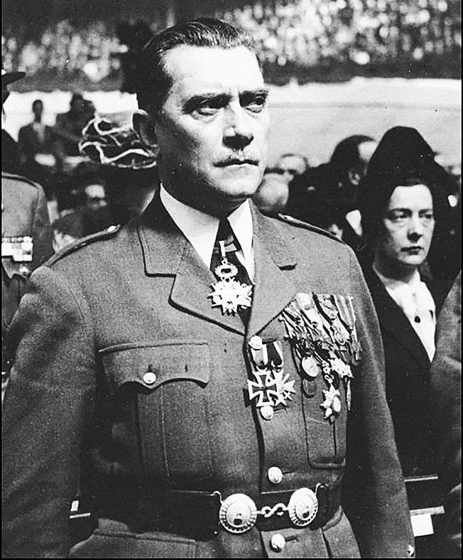 Командир французского полка Эдгар Пуо получил звание бригадного генерала и дважды награждался Железным крестом.