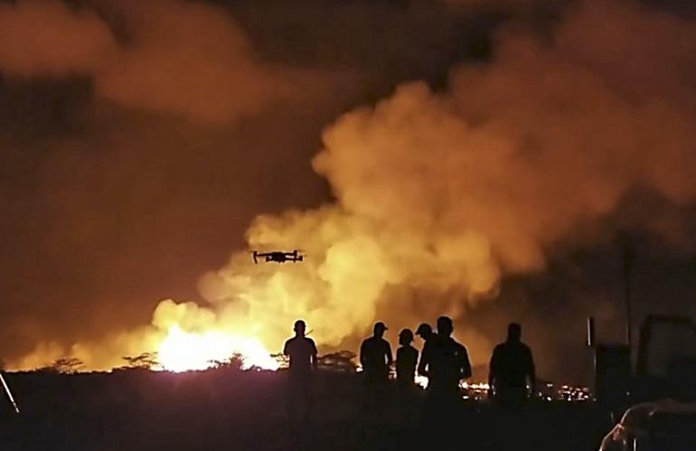 Испытание дрона Mavic Pro UAS на съёмке вулкана на Гавайях.