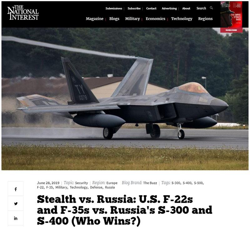 Статья в The National Interest «Стелс против России...»