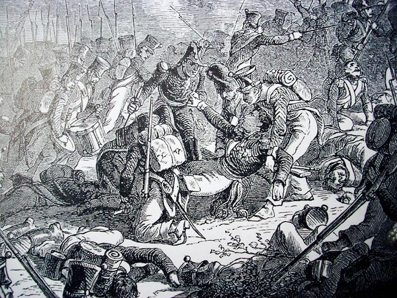 Ранение генерала Гюдена.