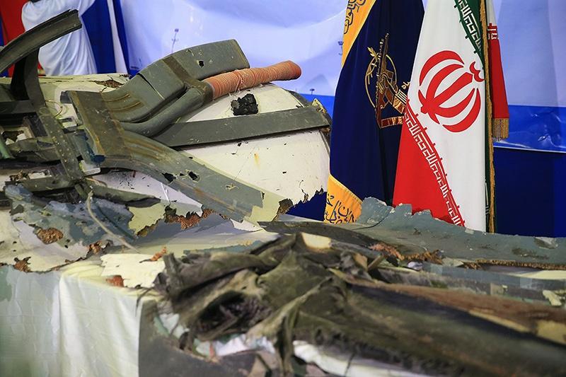 Иран продемонстрировал остатки сбитого американского беспилотника.