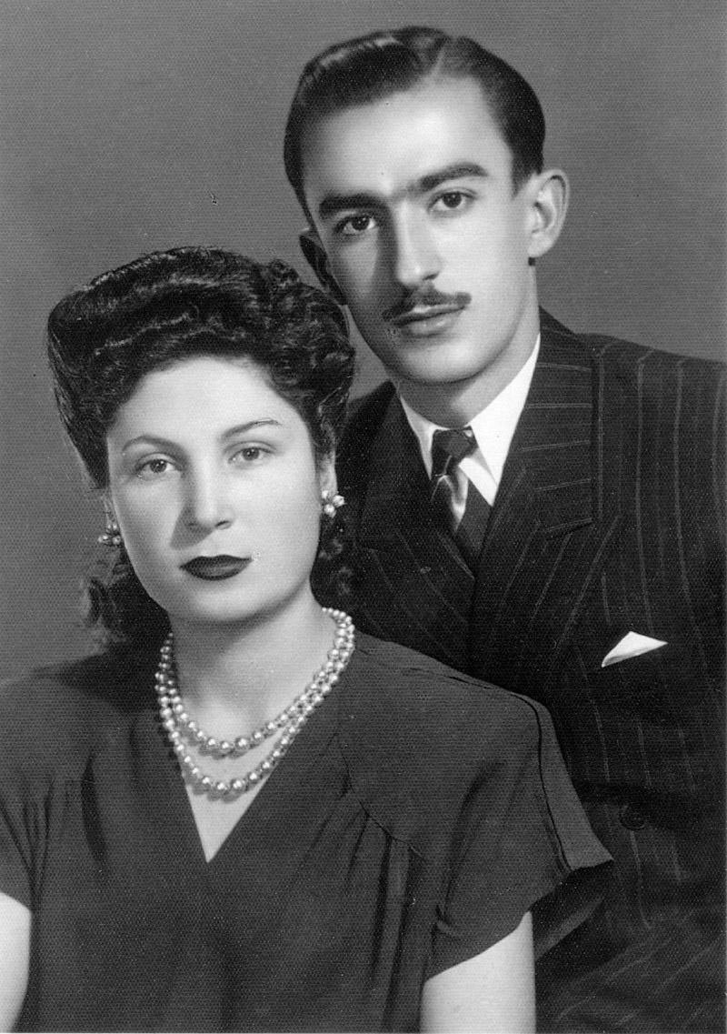 Супруги Вартанян в молодые годы.