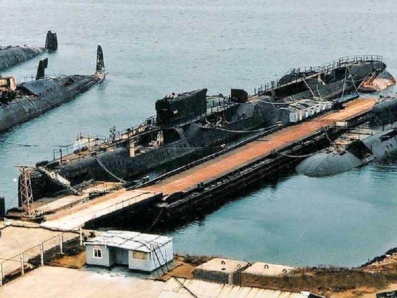 Подводная лодка К-431 после аварии.