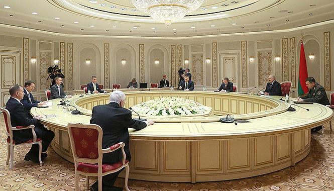 Встреча Лукашенко с представителями четырёх крупнейших аналитических центров США.