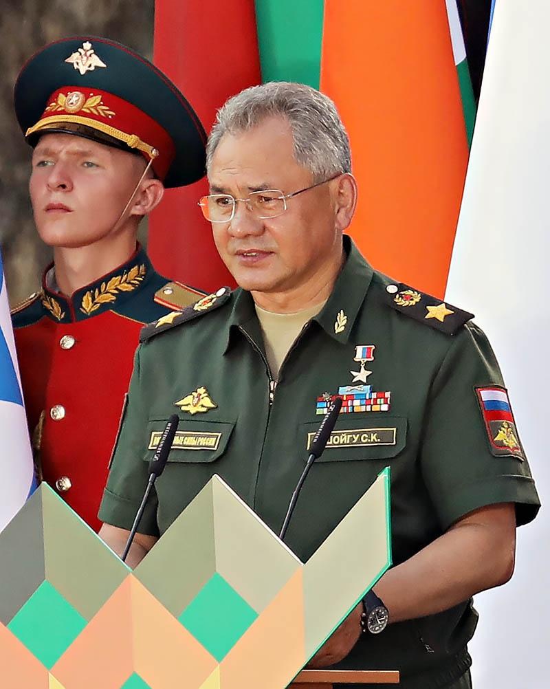 Министр обороны Российской Федерации генерал армии Сергей Шойгу.