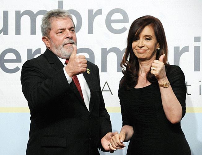 Экс-президент Бразилии Луис Инасиу Лула да Силва и экс-президент Аргентины Кристина Фернандес де Киршнер