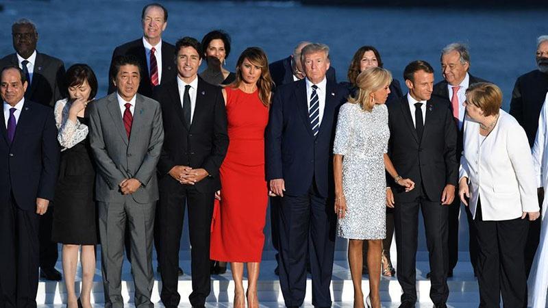 Лидеры G7 в Биаррице.