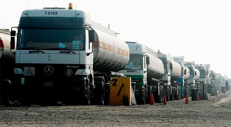 Турецкие бензовозы в Сирии.