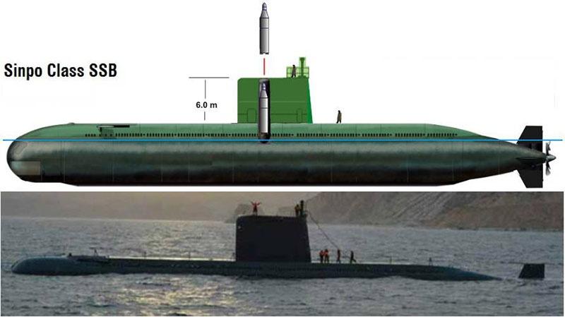 Дальность плавания «Синпхо» - около 3.000 км плюс дальность пуска ракеты.