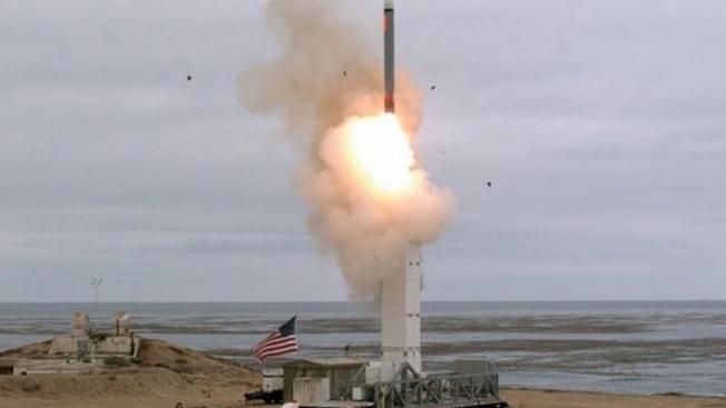 Пуск крылатой ракеты наземного базирования.