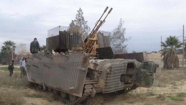 «Доработанная» БМП-1 в Сирии.