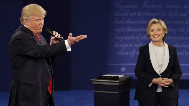 Дональд Трамп и Хилари Клинтон. Дебаты 2016 г.
