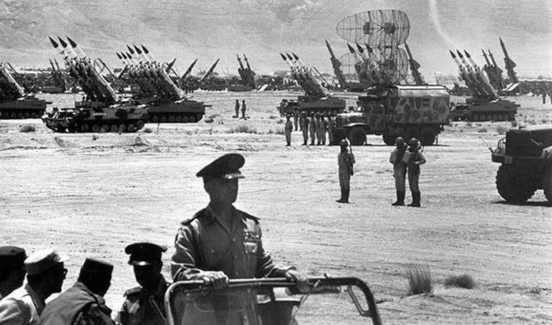 Советские комплексы ПВО во время конфликта между Ливией и Египтом.