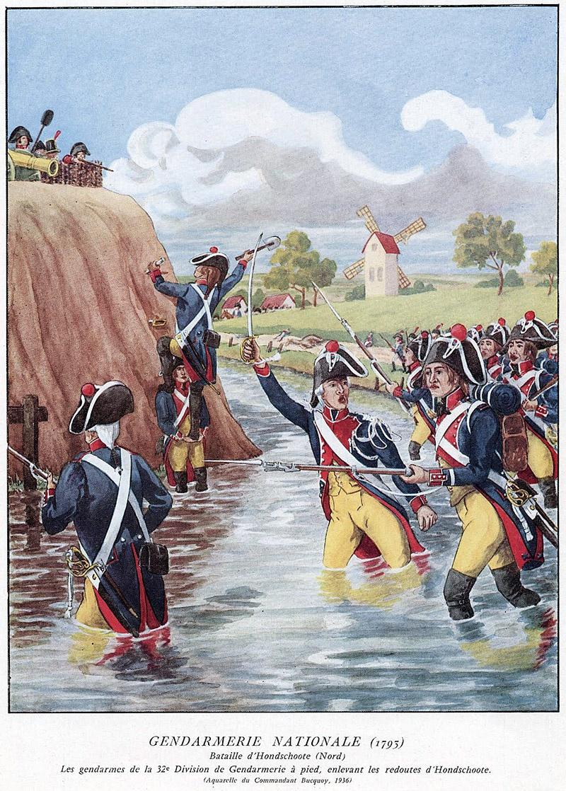 В 1793 г. жандармы срывают английскую блокаду Дюнкерка.
