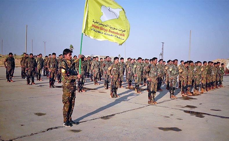 «Сирийские демократические силы» - под их контролем находится значительная приграничная территория на севере Сирии.