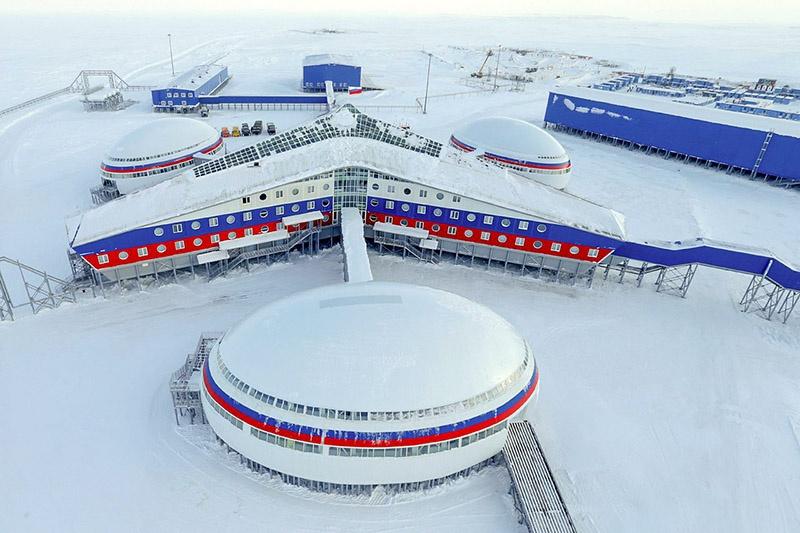 Российская военная база «Полярная Звезда».