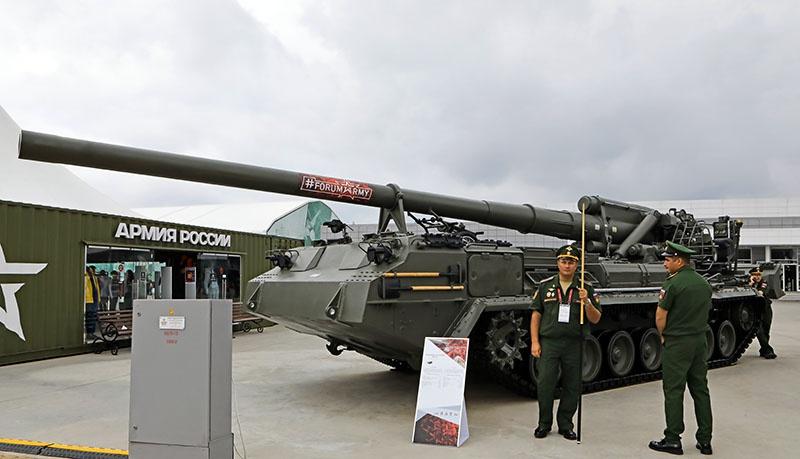 Обновлённая версия САУ - 2С7М «Малка».