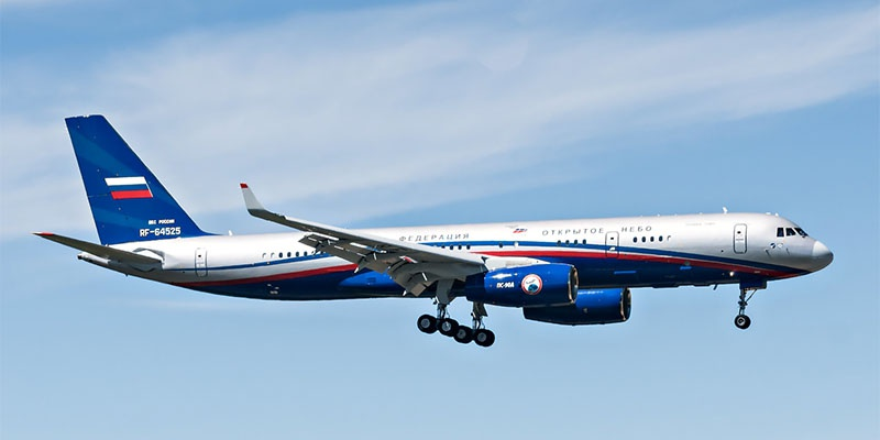 Российские самолёты Ту-214ОН программы «Открытое небо», чьи полёты хотели запретить над территорией США.