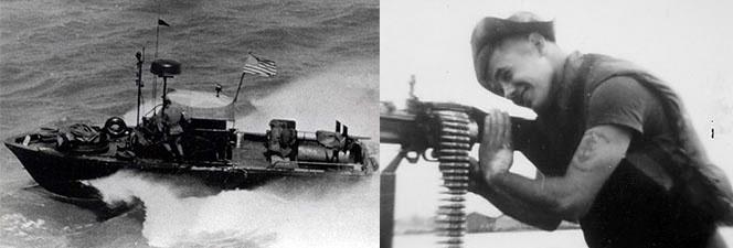 Старшина 2-го класса Патрик Осборн Форд служил на речном патрульном катере PBR-750 в должности пулемётчика.