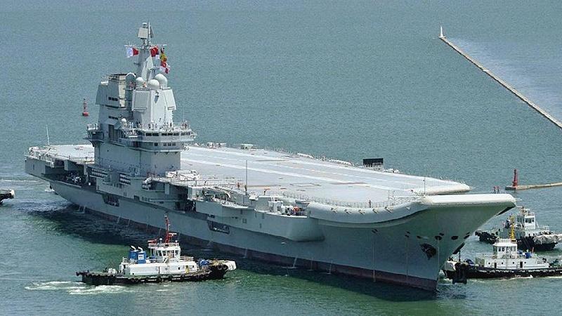 Новый китайский авианосец «Шаньдун» (Type 001A).