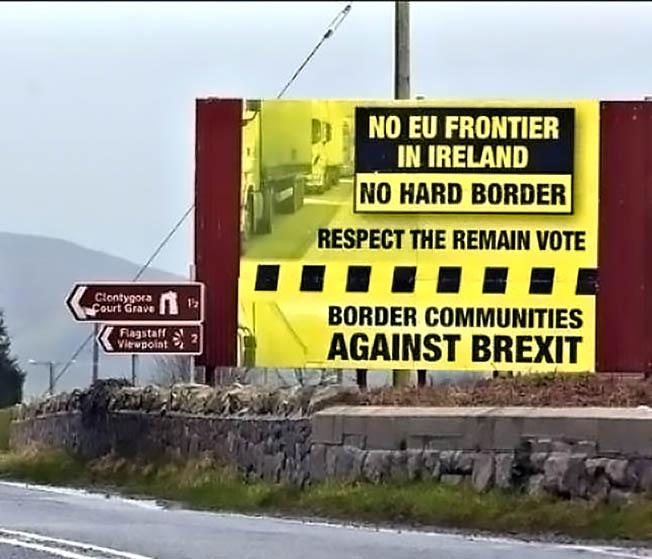 Население Северной Ирландии против установления границы с республикой Ирландия.