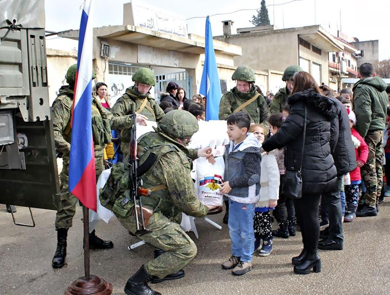 Российская гуманитарная помощь народу Сирии.