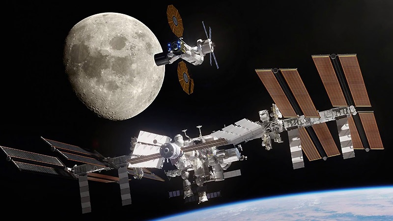 Лунная космическая станция (Lunar Orbital Platform - Gateway).