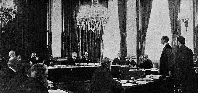 Заседание в Париже международной комиссии по разбору инцидента в Северном море.