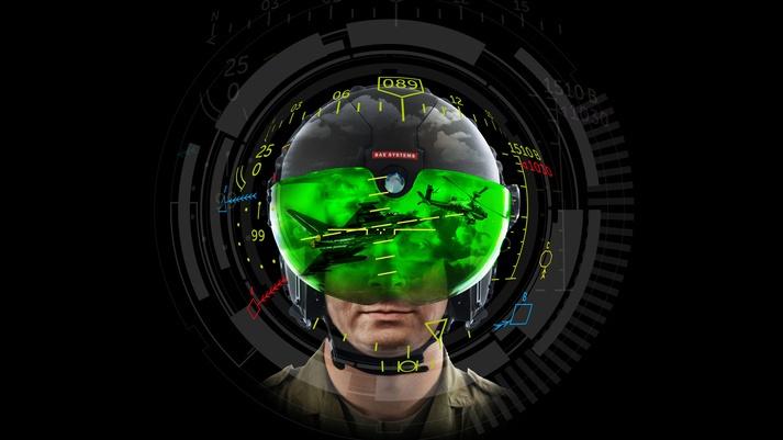 Британские авиаконструкторы разработали модель шлемофона с возможностью проецировать информацию непосредственно на визор.
