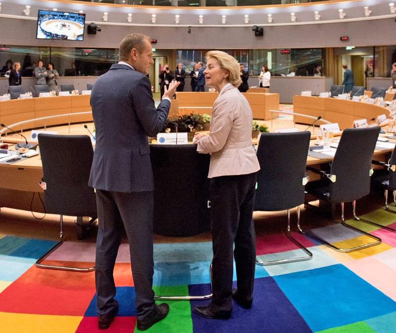 Руководители объединённой Европы Дональд Туск и Урсула фон дер Ляйен: чьей «головной болью» станет Brexit?