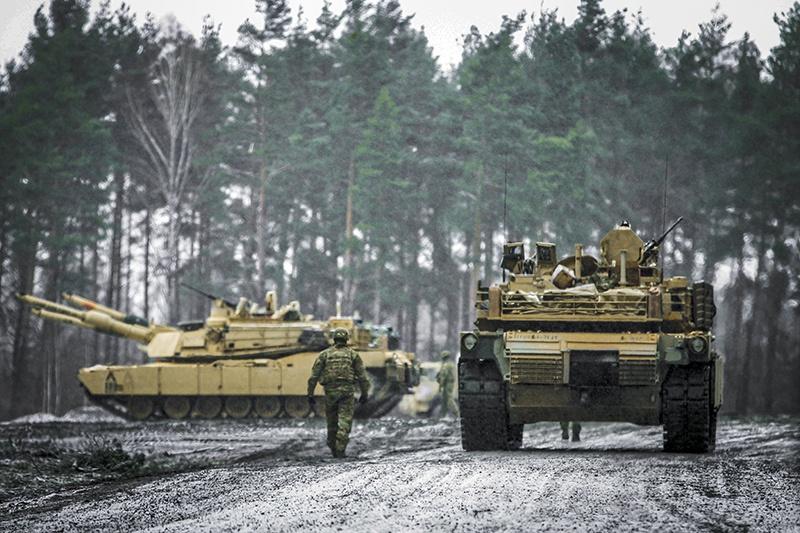 Американцы утверждают, что их танковый батальон в Литве не угрожает Белоруссии.