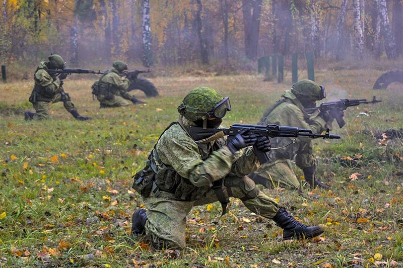 Тренировка спецназа ГРУ.
