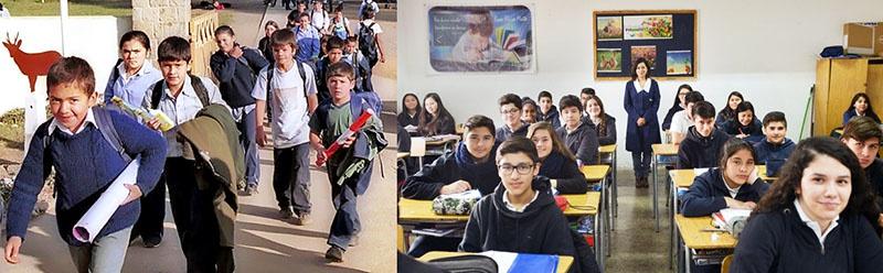 Школьная система в Чили «неравномерна и стратифицирована».