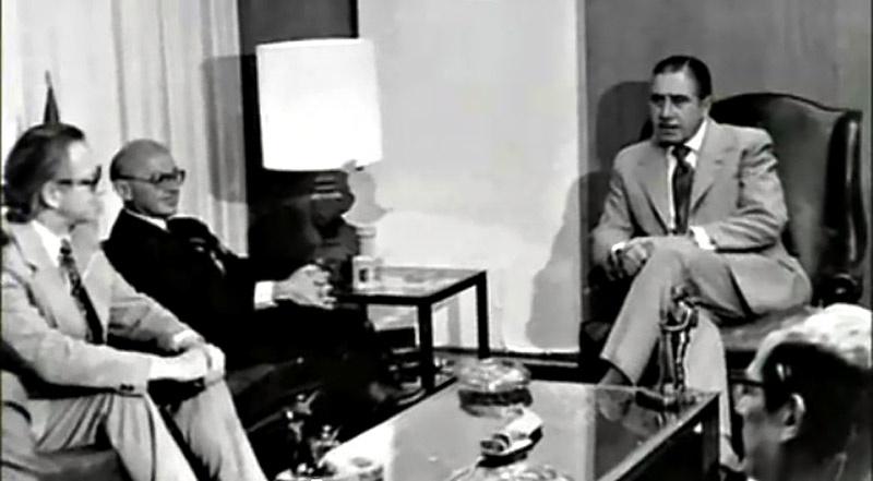 Аугусто Пиночет принимает американского экономиста Милтона Фридмана.