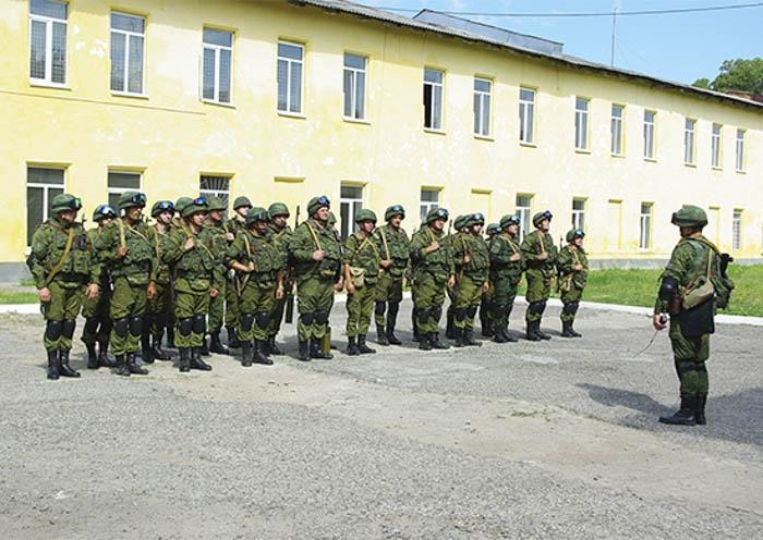 Российские солдаты-миротворцы в Приднестровье.