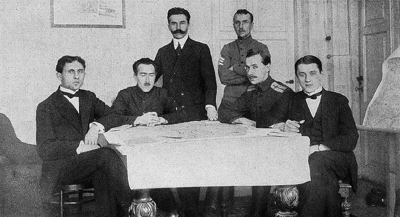 Переговорщики от Центральной Рады в Брест-Литовске.