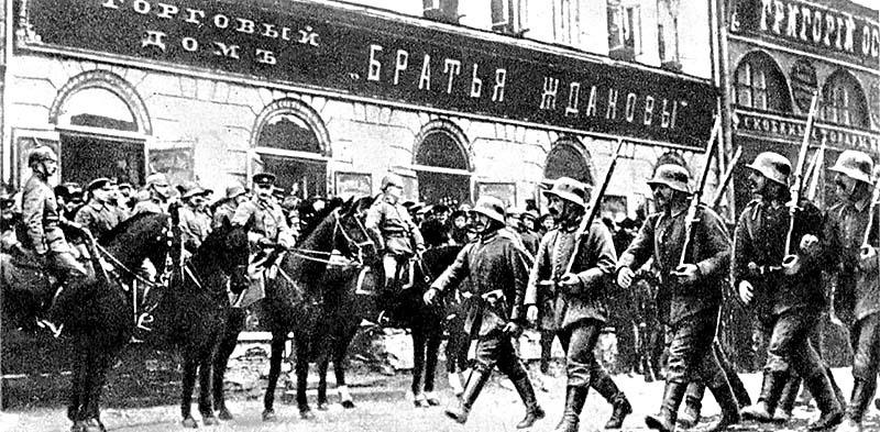 Немецкие войска в Киеве в 1918 году.
