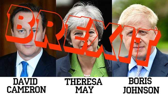 Три британских премьер-министра, отвечавших за реализацию Brexit.
