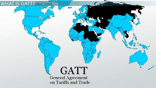 Страны, входящие в GATT.