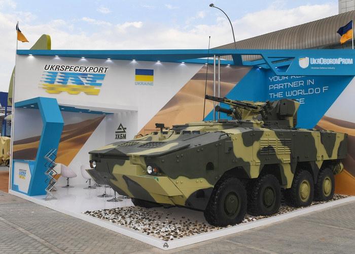 Один из стендов «Укроборонпрома» на выставке IDEX-2019.