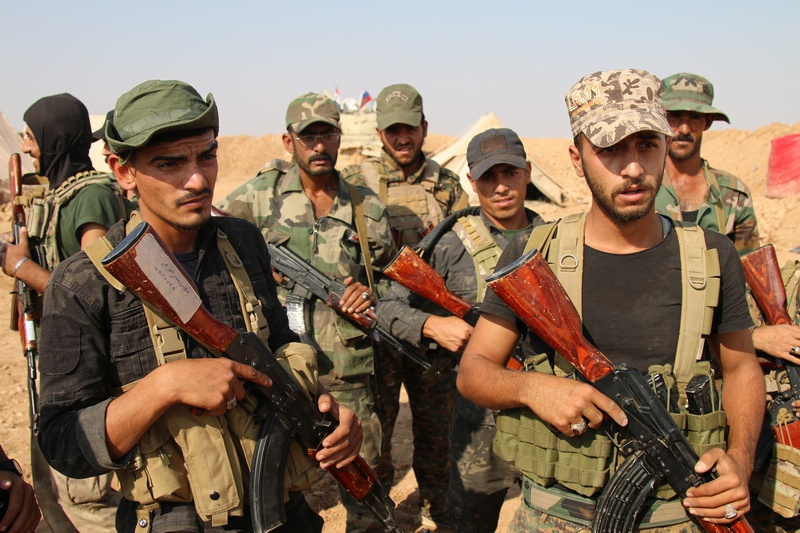 Бойцы курдского ополчения.