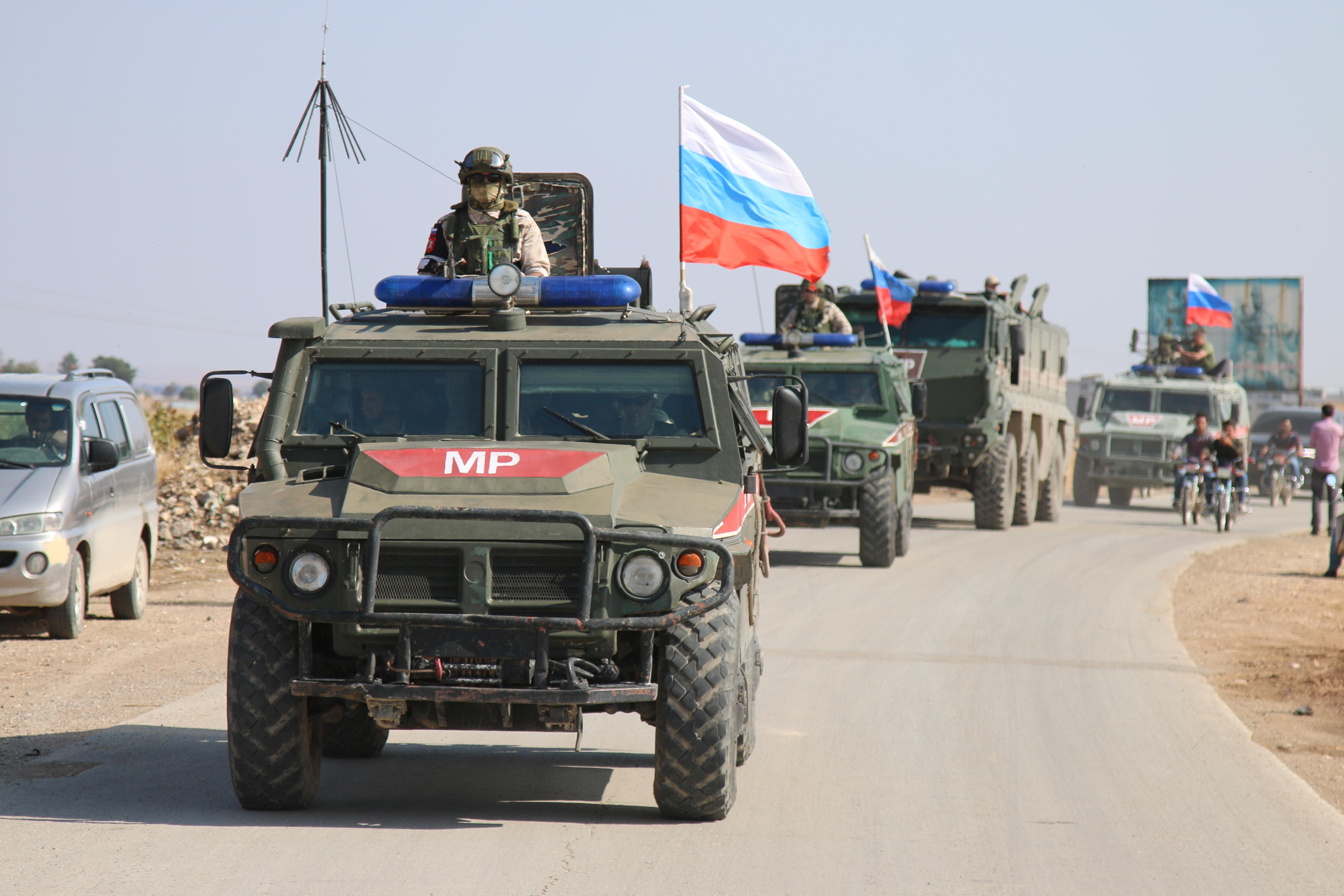 Патруль российской военной полиции.