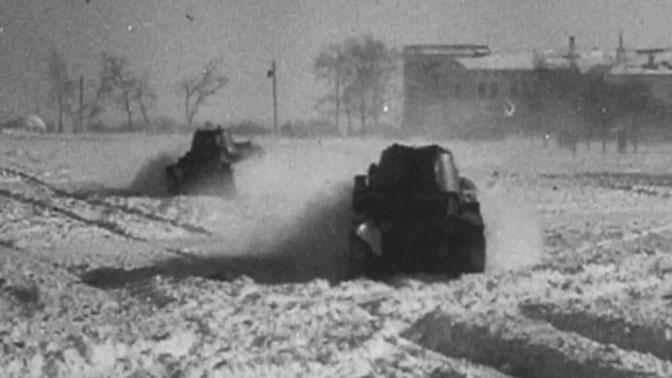 Отработка действий в составе танкового взвода.